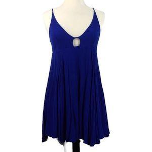LuLu's tie strap swing dress/ tunic- royal blue
